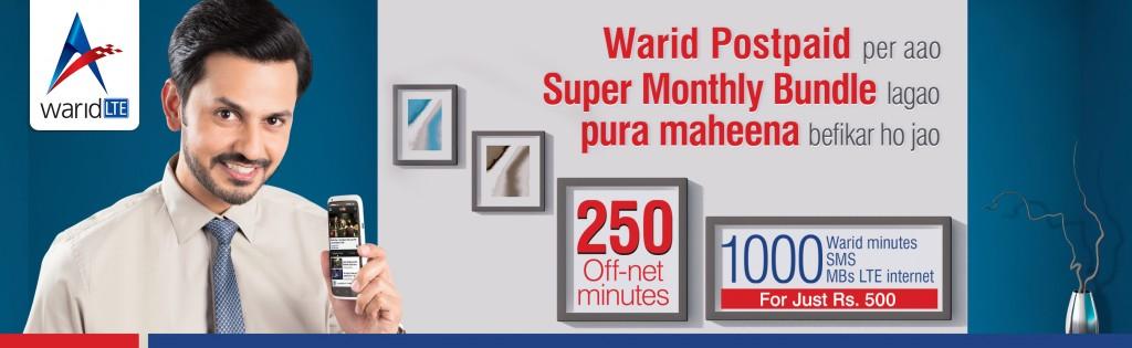 Warid Postpaid Super Monthly Bundle