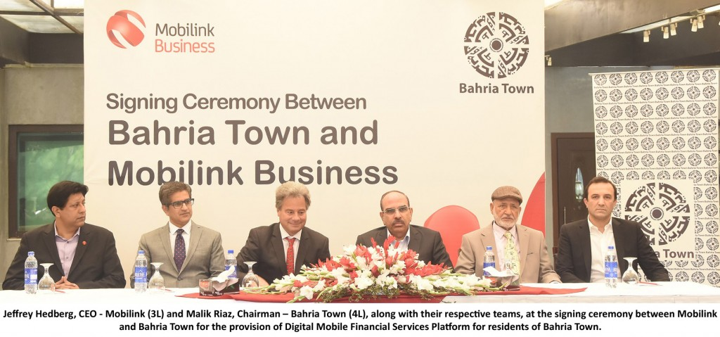 Mobilink & Bahria Town Picture with English Caption